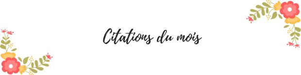 Citations du mois