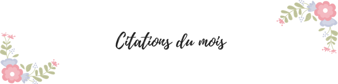 citations du mois